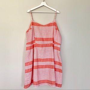 NWT Old Navy | Coral & White Striped Dress |  XXL